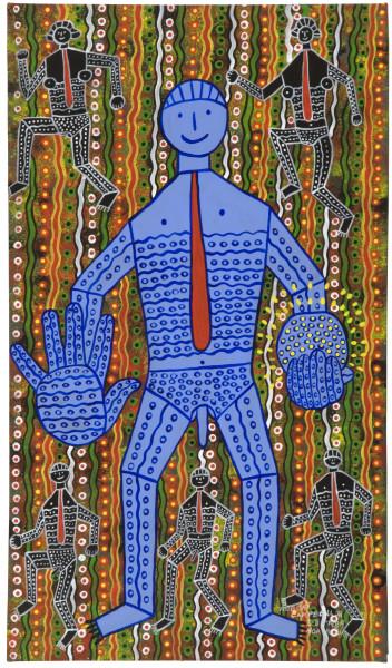 Robert Campbell Jnr Blue Light Man (3.8.89), 1989; acrylic on canvas; 93 x 53.5 cm; enquire