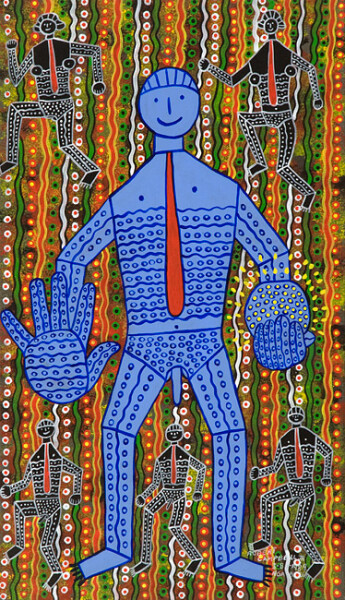 Robert Campbell Jnr Blue Light Man (3.8.89), 1989; acrylic on canvas; 93 x 53.5 cm; enquire