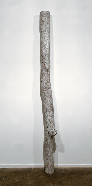 Nyapanyapa Yunupingu Bul'yunmirri, 2012; 4238E; natural earth pigments on bark; 212 x 15 x 15 cm; enquire
