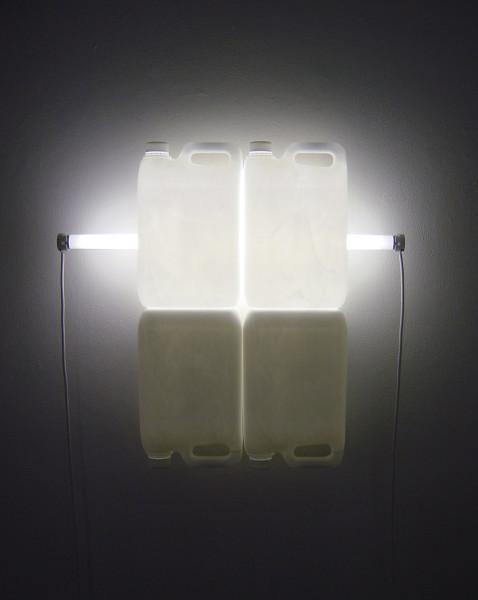 Bill Culbert White Shadow II, 2004; fluorescent lights, electrical cords, plastic bottles; 62 x 58 x 13 cm; enquire