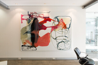 Dale Frank Than abusive Mumps and Chicken Pox regret, 2012; varnish on canvas; 200 x 260 cm; enquire