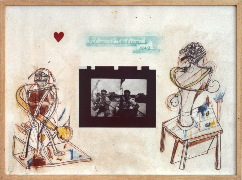 Gareth Sansom Jim at Chelsea, 1981; mixed media on paper; 56.5 x 77 cm; enquire