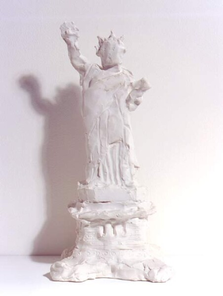 Linda Marrinon Statue of Liberty, New York Harbour, 1998; from the series Sculpture For The Home; Plaster; 36 x 17 x 15 cm; enquire