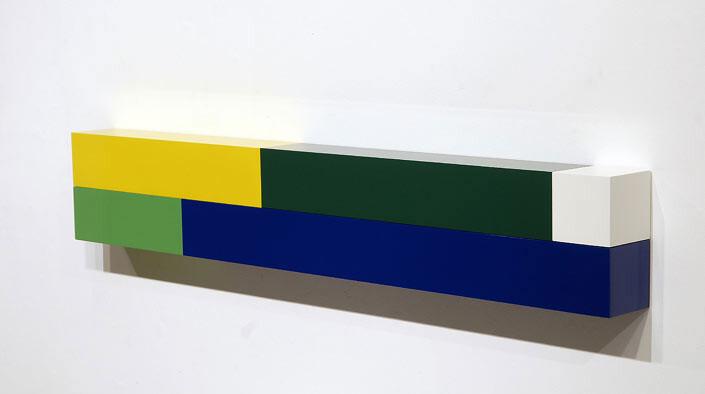 Michael Parekowhai Atarangi #6, 2004; two pot paint + aluminum; 20 x 120 x 10 cm; enquire