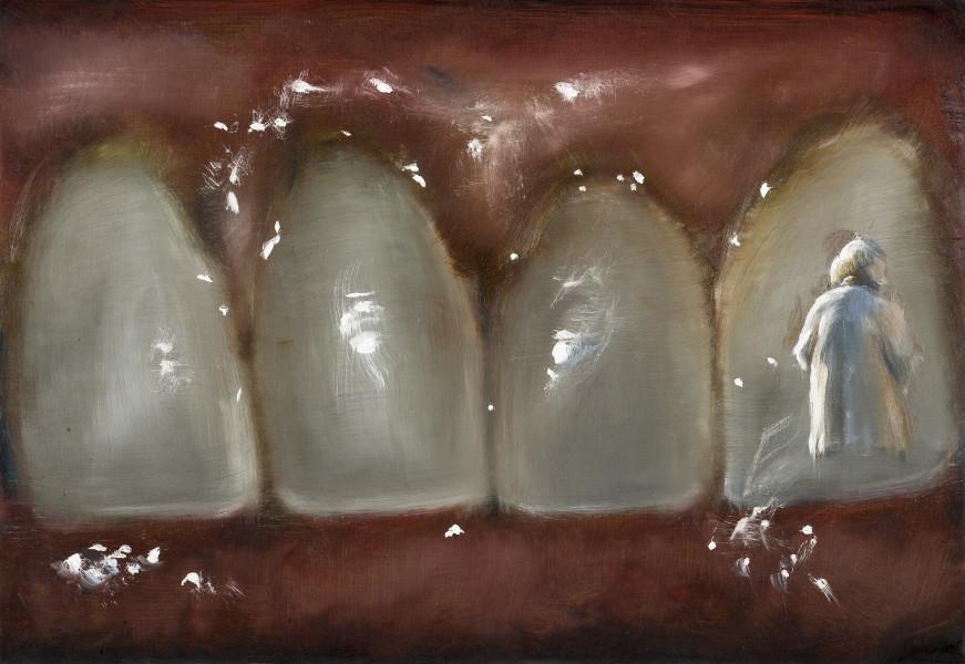 Louise Hearman Untitled #1339, 2011; Oil on masonite; 30.5 x 44 cm; enquire