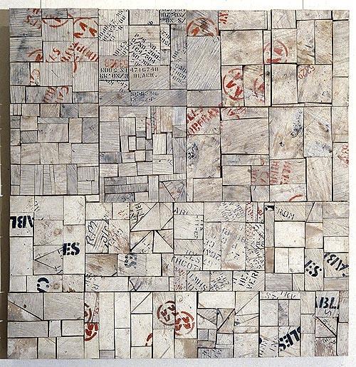 Rosalie Gascoigne White City, 1993-94; wood on craftboard; 110.5 x 108 cm; enquire