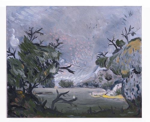 Linda Marrinon View at Eildon, 1996; Oil on canvas; 31 x 25 cm; enquire