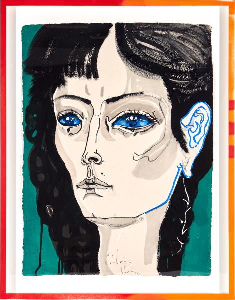 Del Kathryn Barton day light, i mean whoa!, 2019; gouache on paper, hand finished frame; 87 x 67.5 cm; enquire