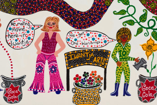 Kaylene Whiskey We Are Seven Sistas (detail), 2020; Acrylic on linen; 67 x 91 cm; enquire