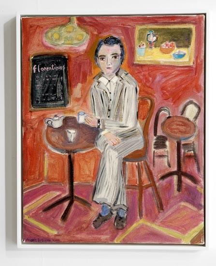 Angela Brennan Yanni Florence at Florentinos, 2006; acrylic on canvas; 50.5 x 40.5cm (unframed), 53 x 43cm (framed); enquire