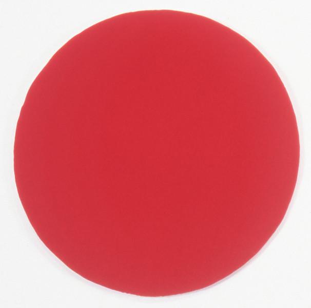 Amanda Ahmed Blood Red, 1994; velvet, hoola hoop; 80 cm diameter (irreg.); enquire