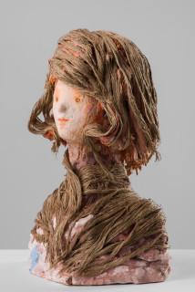 Linda Marrinon Secessionist, Vienna, 1897, 2020; plaster and hessian; 36 x 25 x 16 cm; enquire