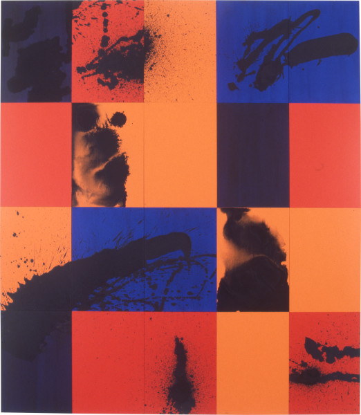 Lindy Lee Birds of Appetite, 1997; acrylic on board; 164 x 142.5 cm; 20 panels; enquire