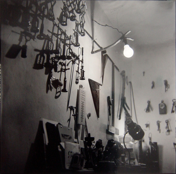 Bill Culbert Interior with corkscrew and lamp, France, 2002; silver gelatin prints; 40.5 x 40.5 cm; Edition of 25; enquire