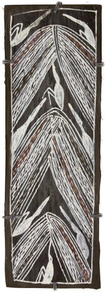 Mulkun Wirrpanda Untitled, 2015; 4524I; Bark painting; 42 x 15 cm; Enquire