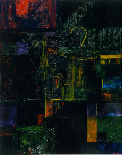 Dale Frank Creeping, 1989; acrylic and resin on canvas; 240 x 200 cm; enquire