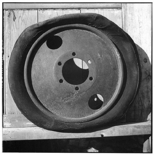 Bill Culbert Car wheel with tyre, 2002; Edition of 25; enquire