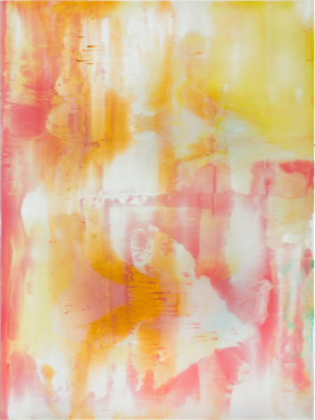 Dale Frank Longing, 2020; powder pigments in resin, epoxyglass, on Perspex; 160 x 120 cm; enquire