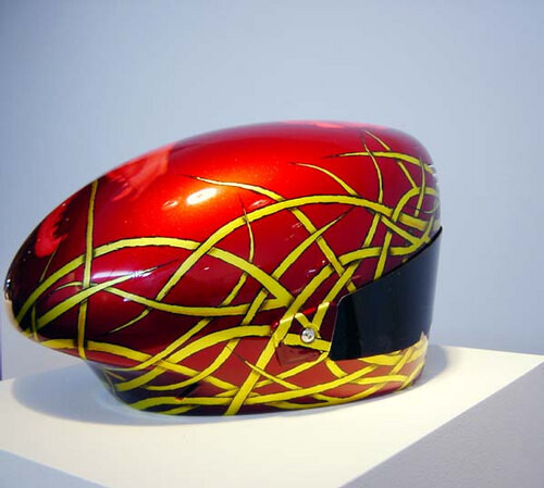 Patricia Piccinini Thylacine, 2003; from the series Team WAF (Precautions); fibreglass, polycarbonate, automotive paint; 25 x 40 x 28 cm; dimensions variable; enquire