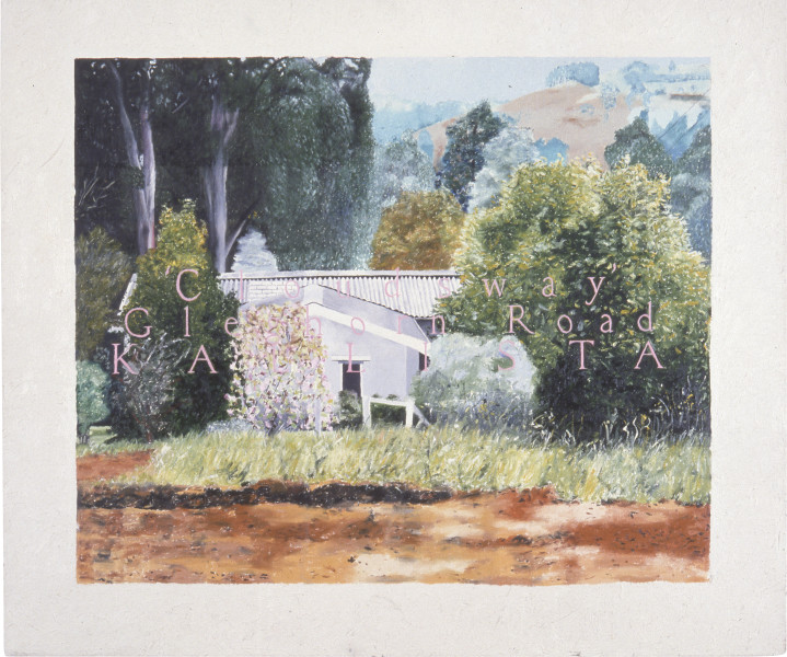 Jenny Watson House Paintings: Kallista (small version), 1976; oil on canvas; 91.5 x 106.5 cm; enquire