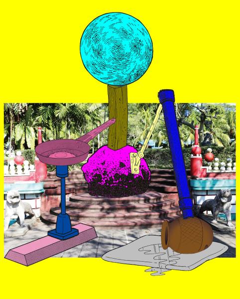 Teppei Kaneuji Games, Dance and the Constructions (Singapore) #3-B, 2013; Screen print,archival ink jet print, plexiglas, cotton rag paper ; 129.5 x 104.5 x 4.5 cm; enquire