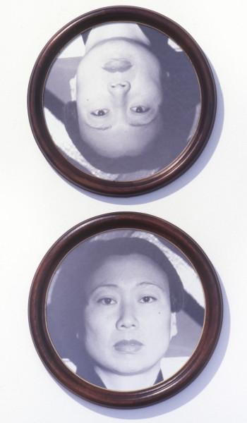 Anne Graham Portrait of Lindy Lee, 1992; black and white photograph; enquire