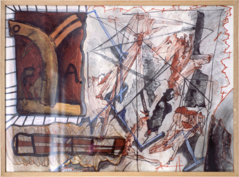 Gareth Sansom Sweet Fa, 1981; mixed media on paper; 56.6 x 77 cm; enquire