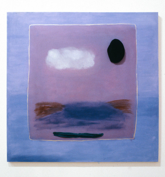 Angela Brennan Untitled, 1993; oil and velvet on canvas; 152 x 152 cm; enquire