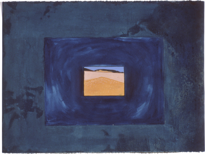 Fiona Foley Fraser Island Lost In Space, 1990; acrylic, pastel, oil crayon, aquarelle, ink and wax on paper; 57 x 76.5 cm; enquire