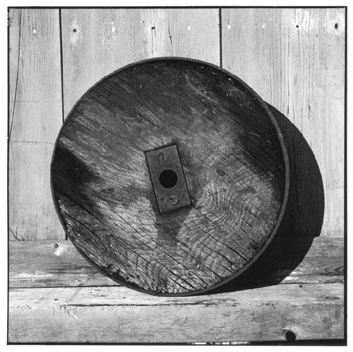 Bill Culbert Solid wood wheel, iron, rim, 2002; Edition of 25; enquire