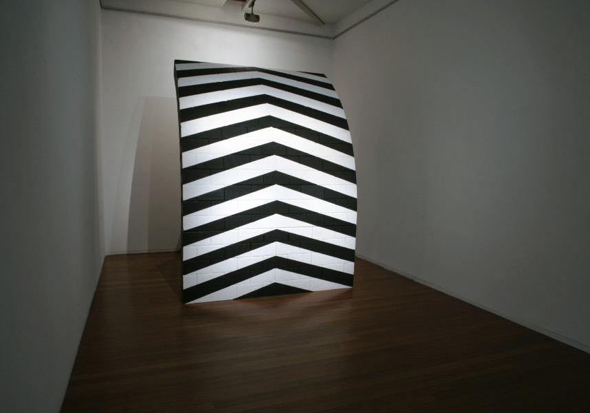 Callum Morton Monument #24, 2009; polyurethane, epoxy resin, fiberglass, sand cement, timber, acrylic paint; 290 x 215 x 270 cm; enquire