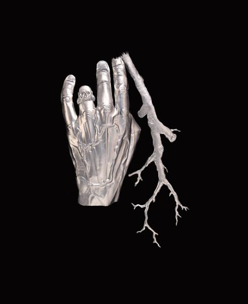 Fiona Hall Ringbark, 2013; aluminium; 27.5 x 17.5 x 2.5 cm; Enquire