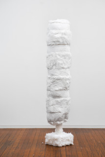 Kathy Temin Mothering Garden: Tree, 2021; synthetic fur, synthetic filling; 200 x 40 x 40 cm; enquire