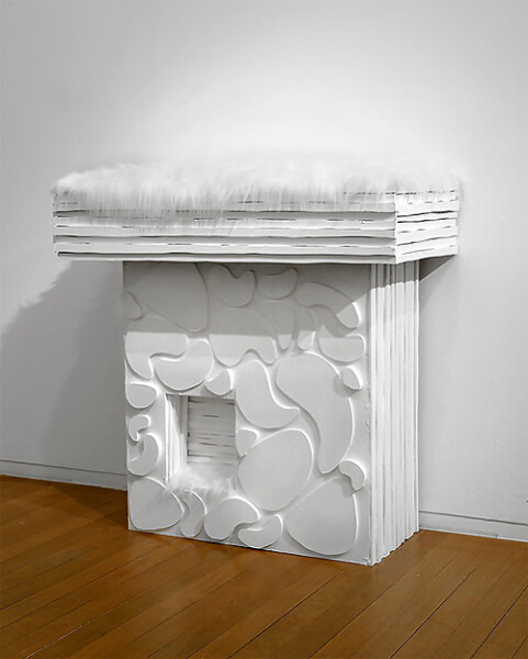 Kathy Temin Mantle Garden, 2006-07; synthetic fur, wood, paint, perspex; 105 x 105 x 45 cm; enquire