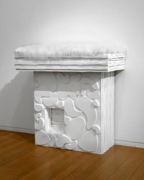 Kathy Temin Mantle Garden, 2006-07; synthetic fur, wood, paint, perspex; 105 x 105 x 45 cm; enquire