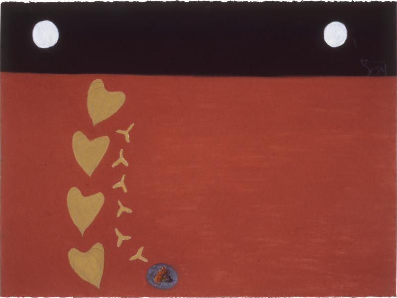 Fiona Foley Maningrida, 1988; pastel on paper; 56.5 x 76.5 cm; enquire