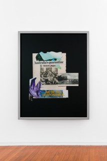 installation view; Brook Andrew This year, historic plight..., 2020; C-Type hand printed metallic photograph; 159 x 129 cm; Edition of 3 + 2 APs; enquire