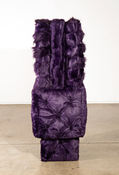 Kathy Temin Purple Garden, 2015; Synthetic fur, steel, synthetic filling; 194 x 60 x 60 cm; enquire