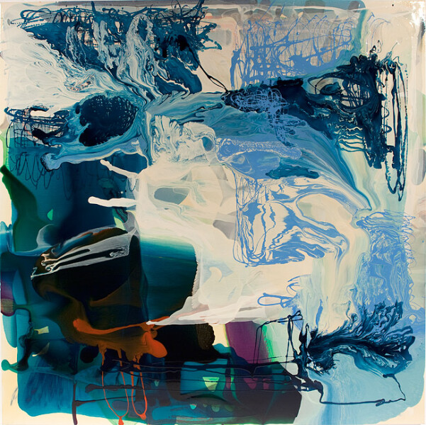 Dale Frank My favorite soap is Cousins Imperial Leather soap, 2011; varnish on canvas; 200 x 200 cm; Enquire