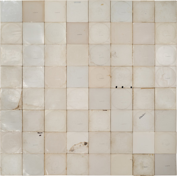 Nell More Sound Hours Than Can Ever Be Repaid - The White Album, #1, 1968-13; Cardboard record sleeves; 251.5 x 253.5 cm; enquire