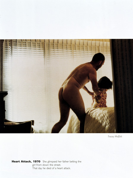 Tracey Moffatt Heart Attack, 1970, 1994; from the series Scarred For Life; offset lithograph; 80 x 60 cm; Edition of 50 + AP 9; enquire