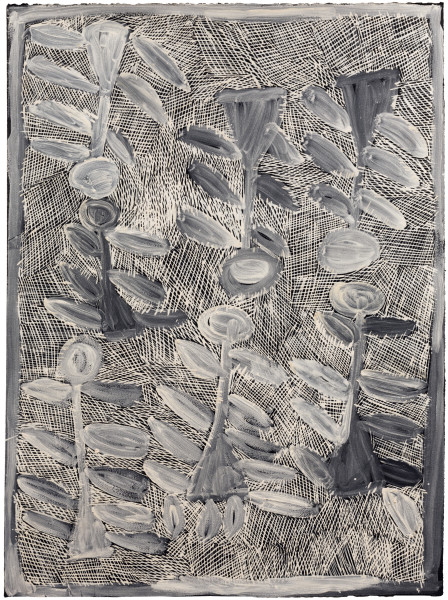 Nyapanyapa Yunupingu Untitled, 2016; 4923O; earth pigments on paper; 76 x 57 cm; enquire