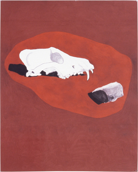 Fiona Foley Dingo Skull I, 1994; pastel, oxide and charcoal on paper; 186 x 150 cm; enquire