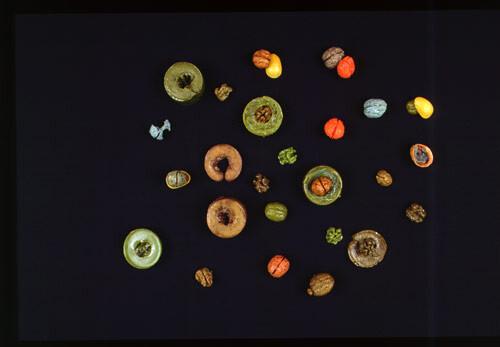 Hany Armanious Walnut walls, 2003; Hotmelt, elastomeric gel, oil paint, plastic; 8 x 61 x 61 cm; enquire