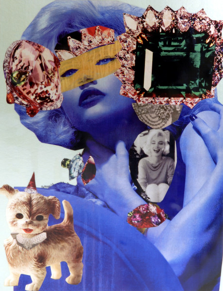 "Jacqueline Fraser ""Oh, you are so famous now you Jeff Koons devotee."", 2007; 100 x 100 cm (framed); enquire"