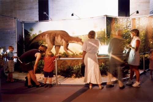 Anne Zahalka Dinosaur Display, Australian Museum, 1998; type C photograph; 76 x 93 cm; Edition of 12; enquire