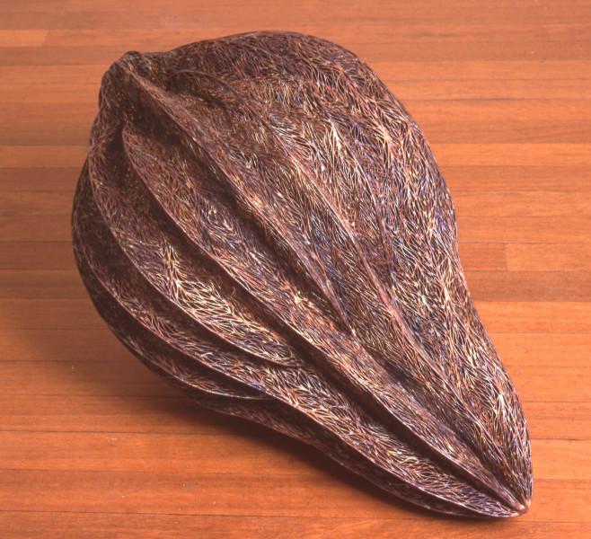 Bronwyn Oliver Ribbed, 2000; copper; 95 x 55 x 55 cm; enquire