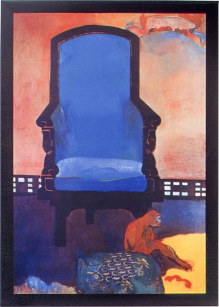Julie Rrap Untitled (after Gauguin's 'Anna the Javanese'), 2002; Vutek print, solvent pigment inks on canvas; 81 x 56.3 cm; Edition of 9; enquire