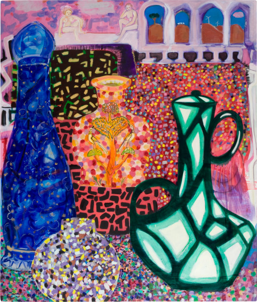 Angela Brennan What the Graces require and the Muses inspire, 2009; oil on canvas; 182.5 x 155.5 cm; enquire