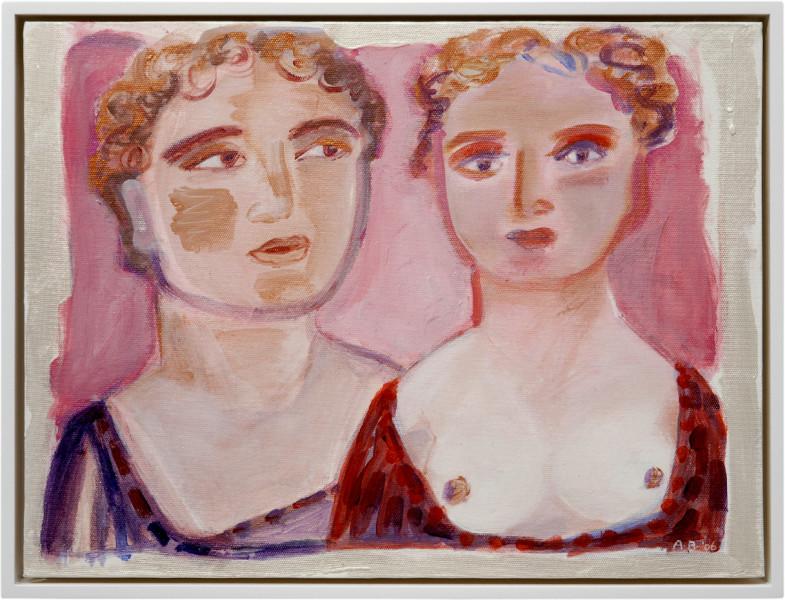Angela Brennan Double portrait, 2006; acrylic on canvas board; 30.5 x 40.5cm (unframed), 33 x 43cm (framed); enquire